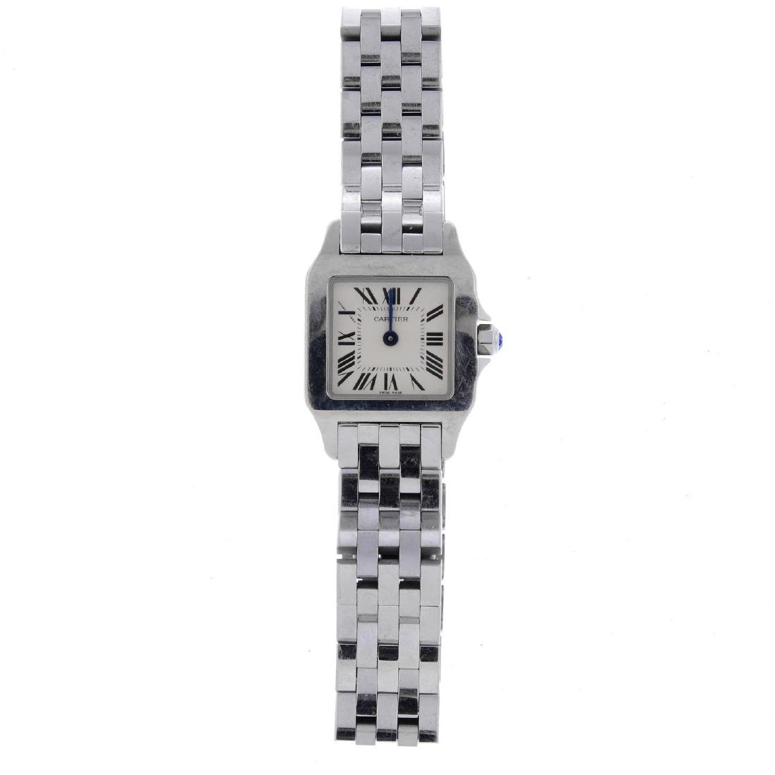 CARTIER - a Santos Demoiselle bracelet watch. Stainless