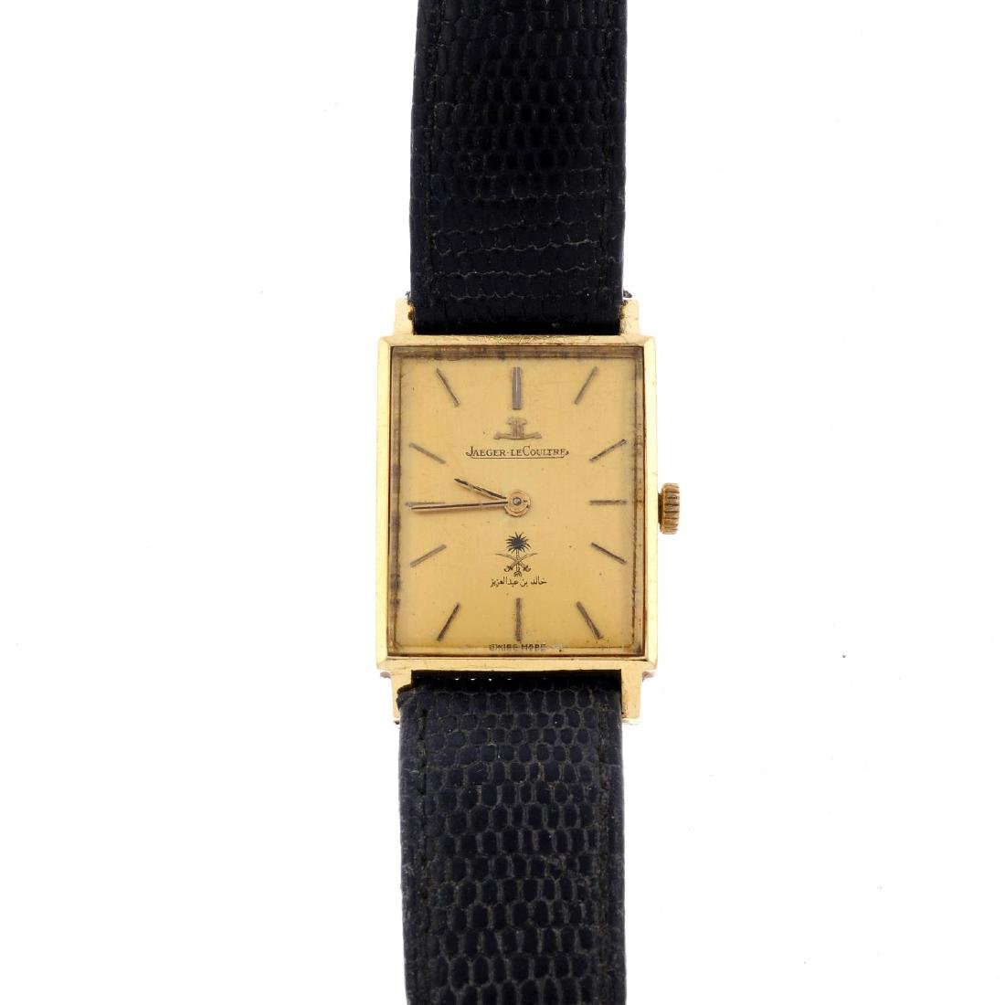 JAEGER-LECOULTURE - a gentleman's wrist watch. Yellow
