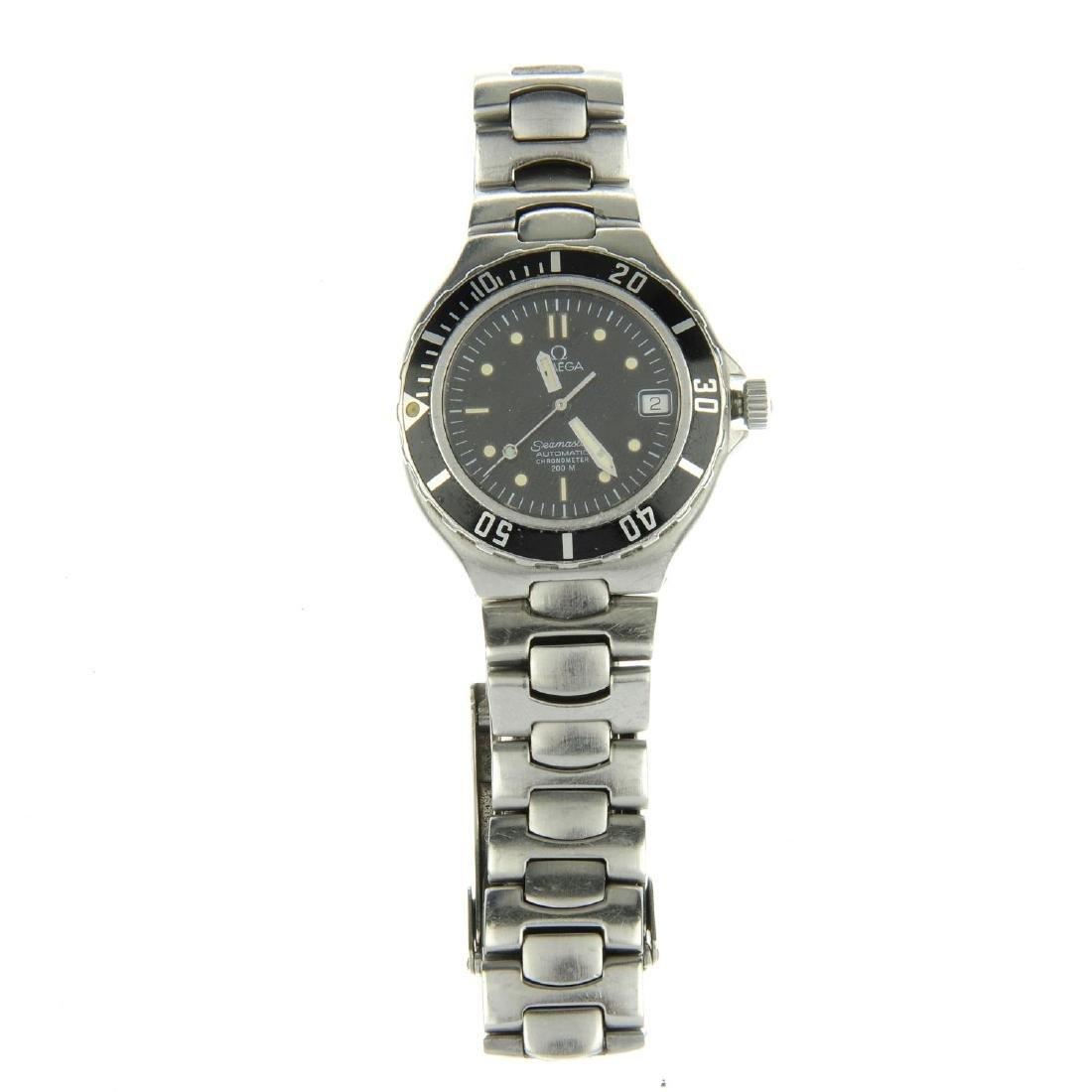OMEGA - a gentleman's Seamaster 200M bracelet watch.