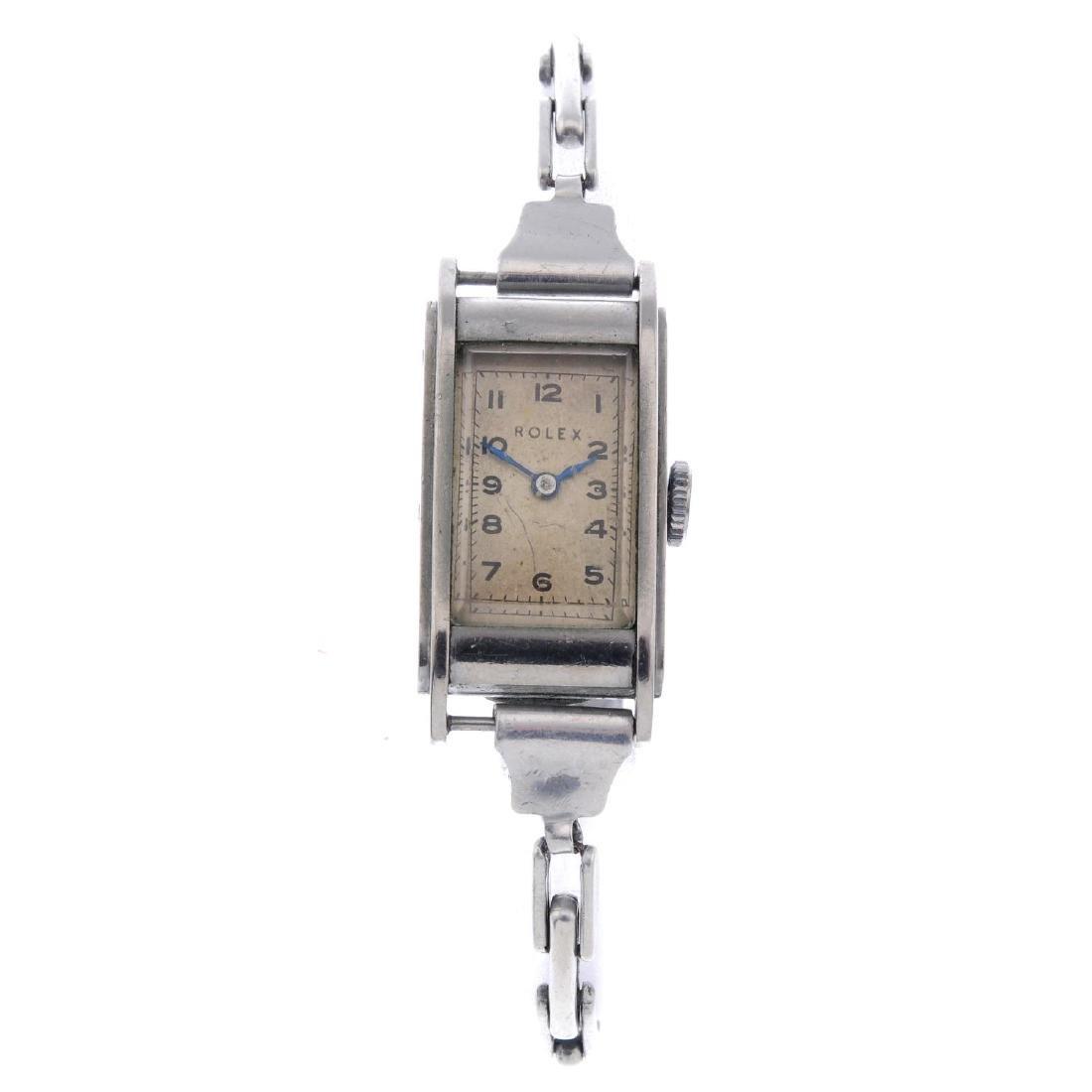 ROLEX - a lady's bracelet watch. Rolesium case.