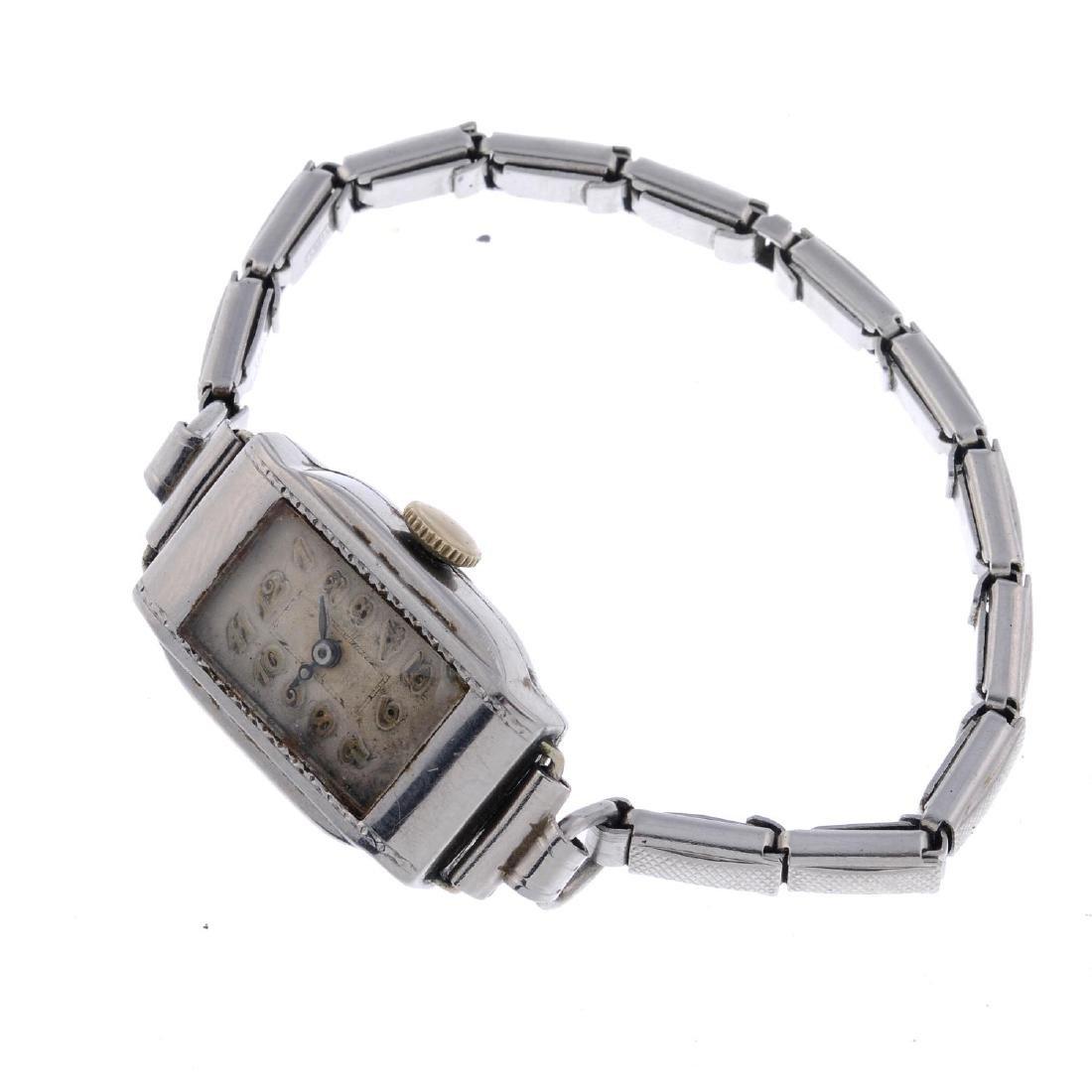 ROLEX - a lady's bracelet watch. Stainless steel case.