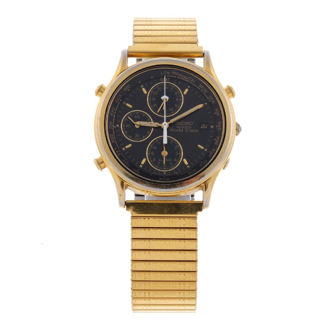 SEIKO - a gentleman's World Timer GMT Alarm bracelet