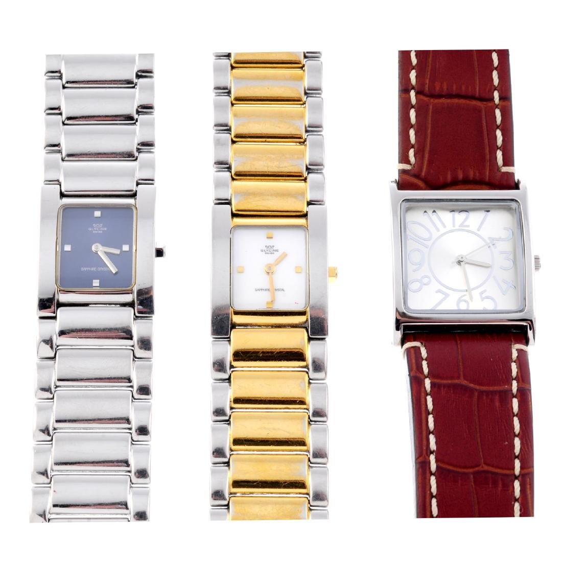 A group of six assorted watches, to include three