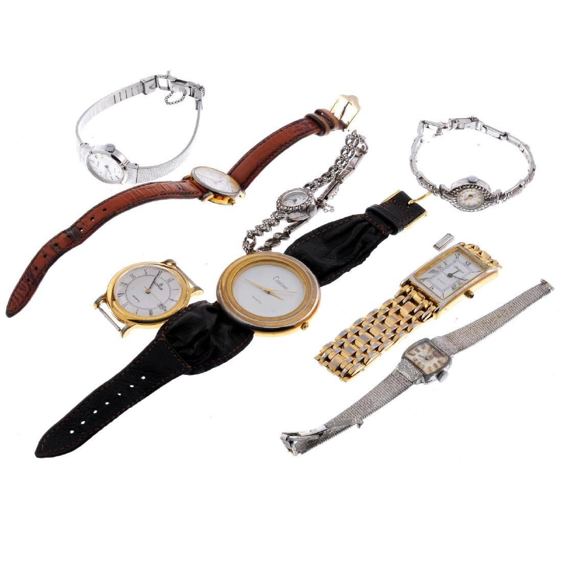 A group of eight assorted watches and watch heads, to