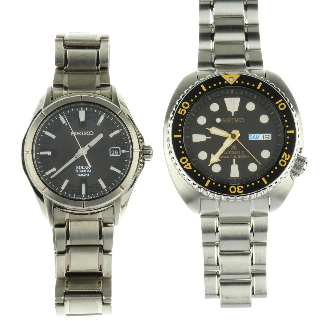 A group of ten assorted Seiko watches. All recommended
