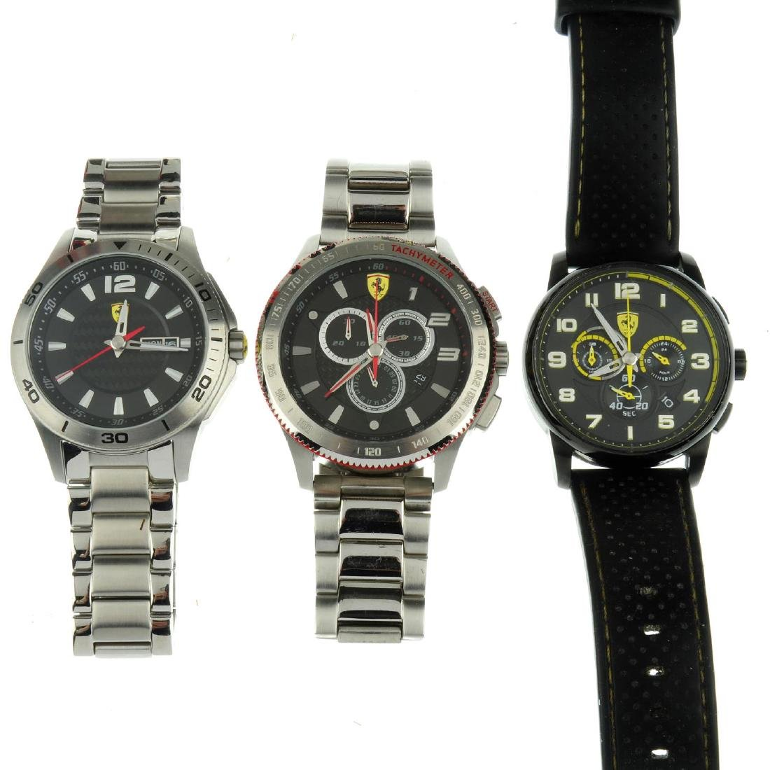 A group of twelve Scuderia Ferrari watches. All