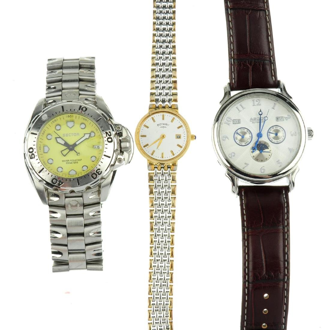 A group of thirteen assorted watches and a pocket