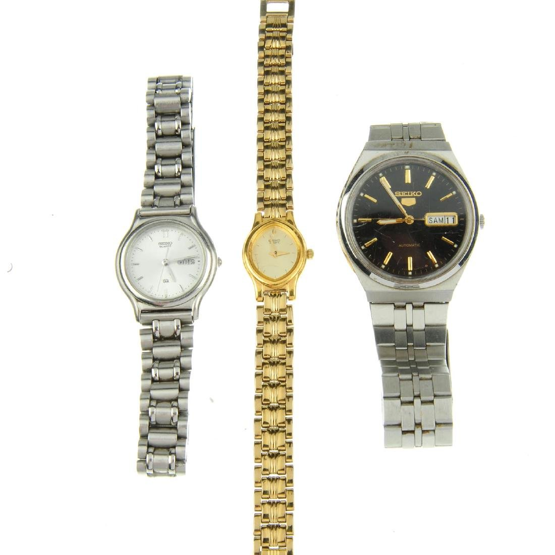 A group of fifteen assorted Seiko watches. All