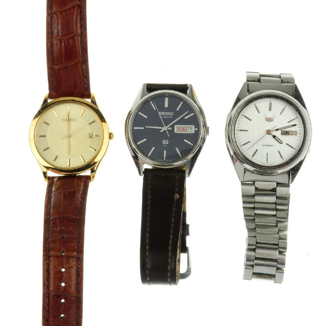 A group of seventeen assorted Seiko watches. All