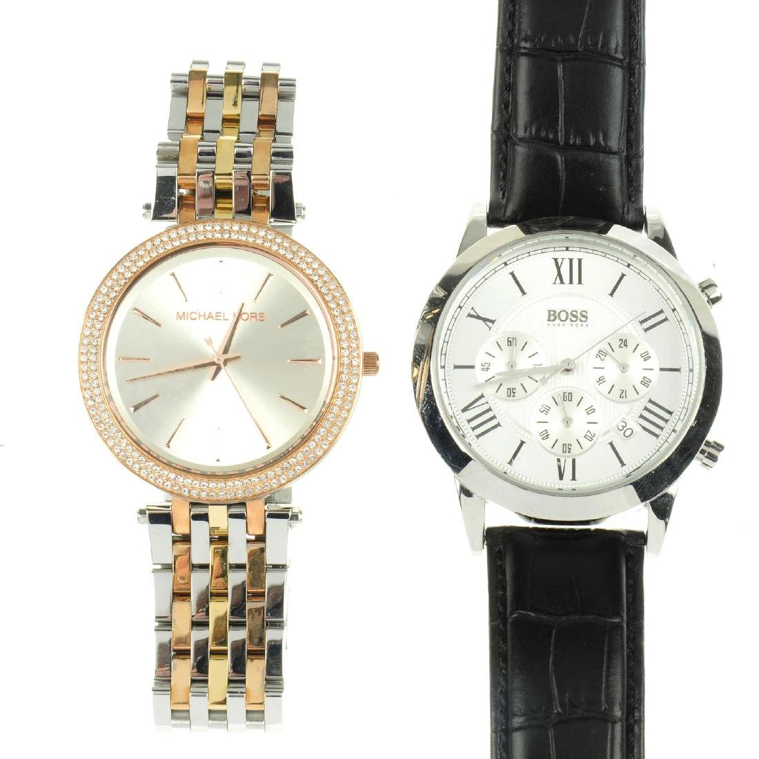 A bag of assorted watches, to include examples by Boss