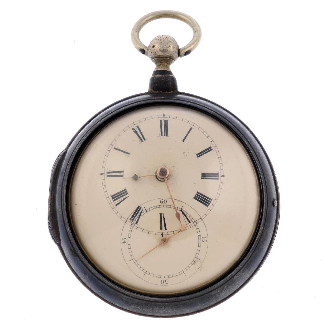 A pair case pocket watch by M.Simmons. Silver cases,