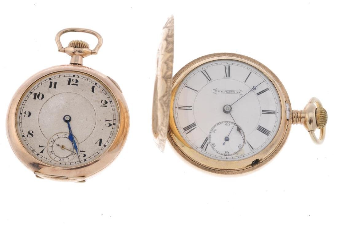 A group of four assorted pocket watches, to include an - 2