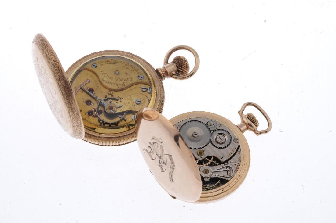 A group of four assorted pocket watches, to include an - 5