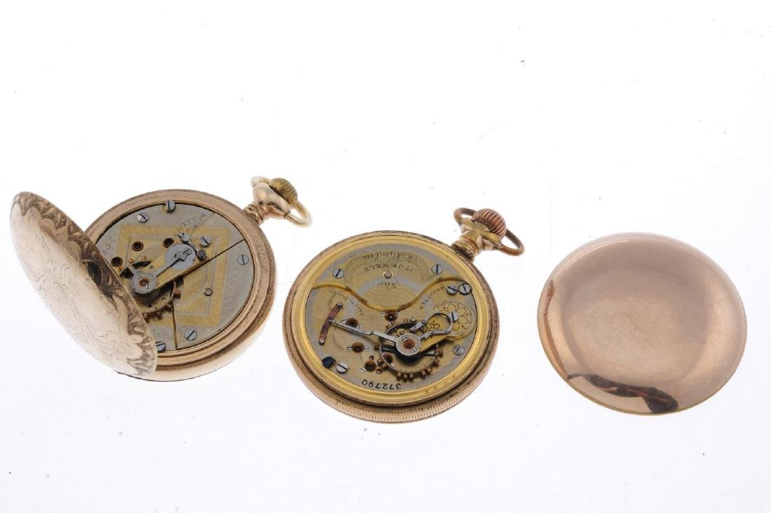 A group of four assorted pocket watches, to include an - 6