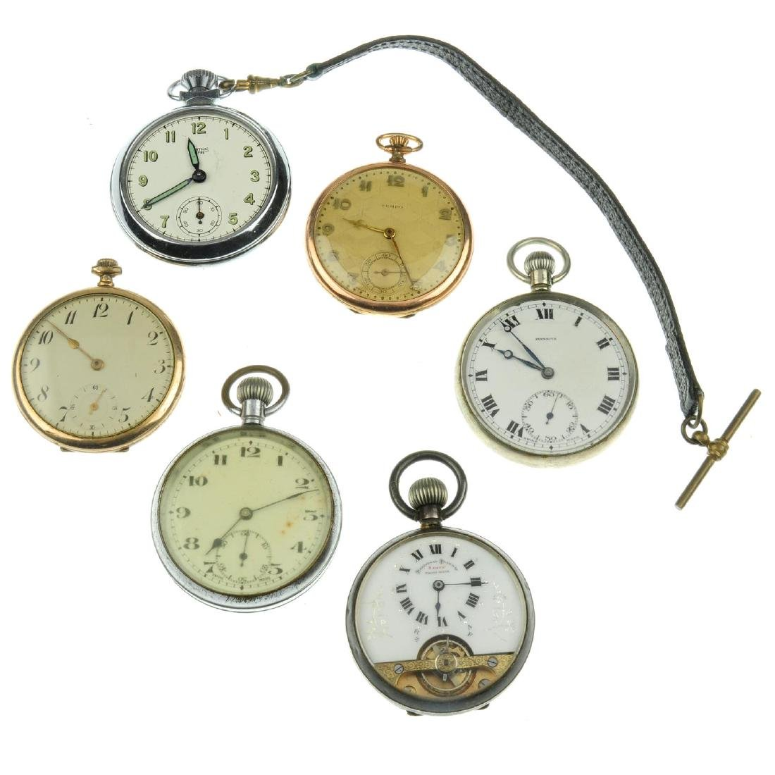 A group of six assorted pocket watches, to include an