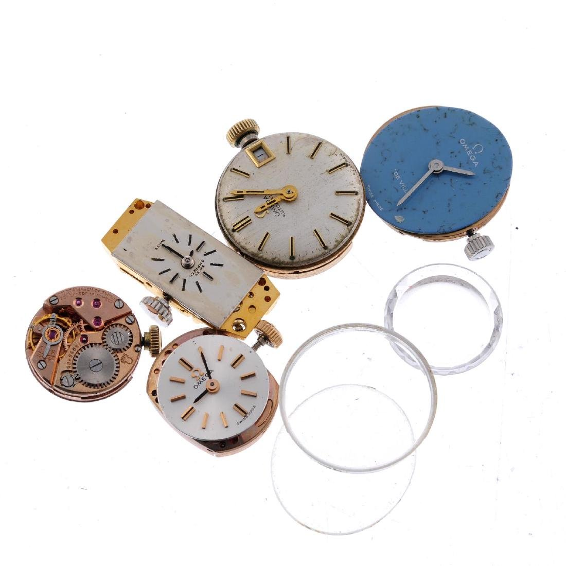 OMEGA - a group of four assorted watch movements,