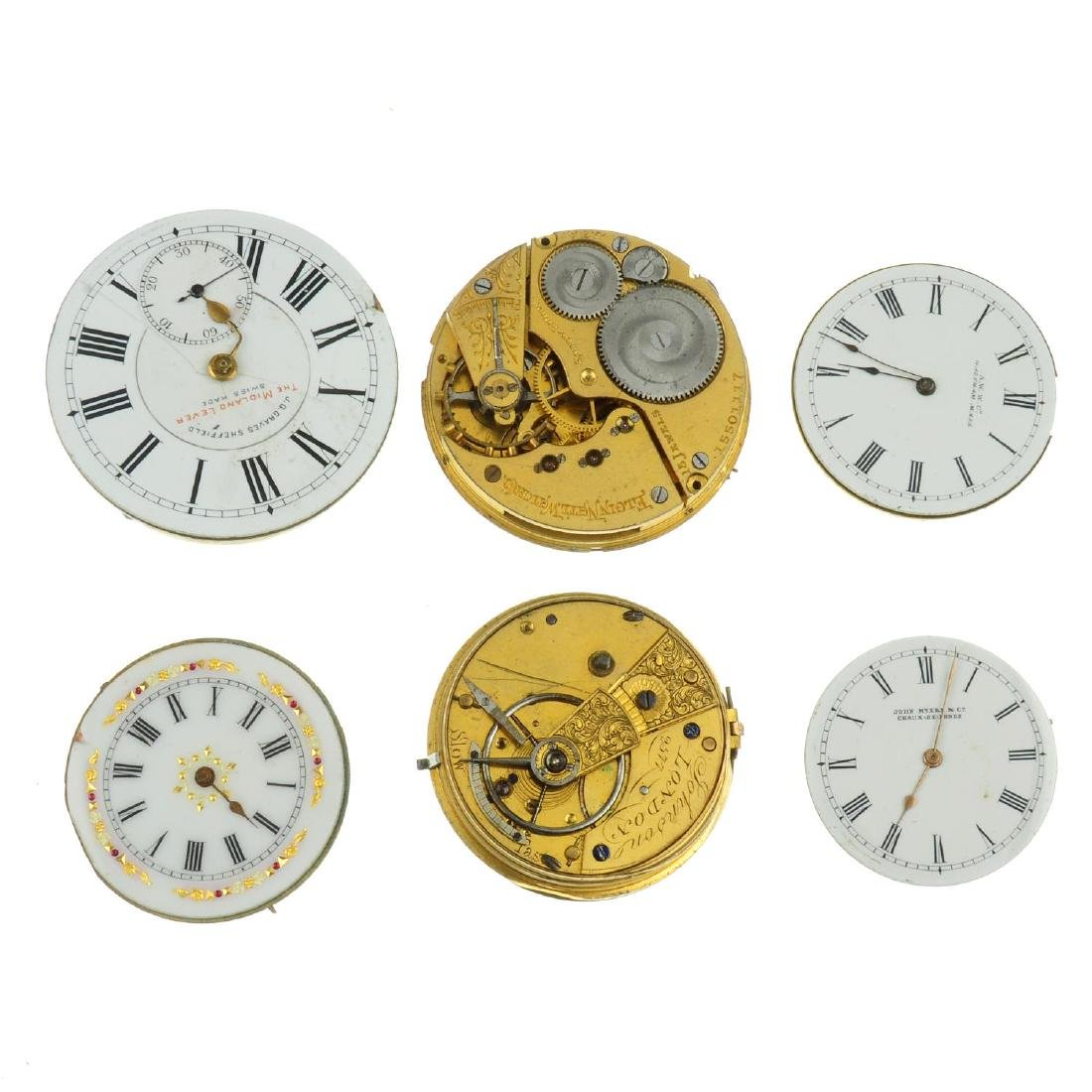 A bag of assorted pocket watch movements. All