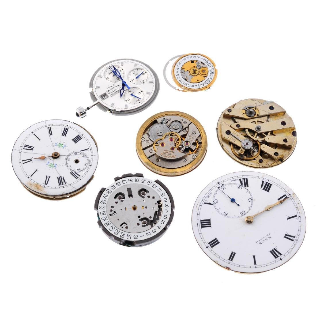A bag of assorted watch and pocket watch movements. All