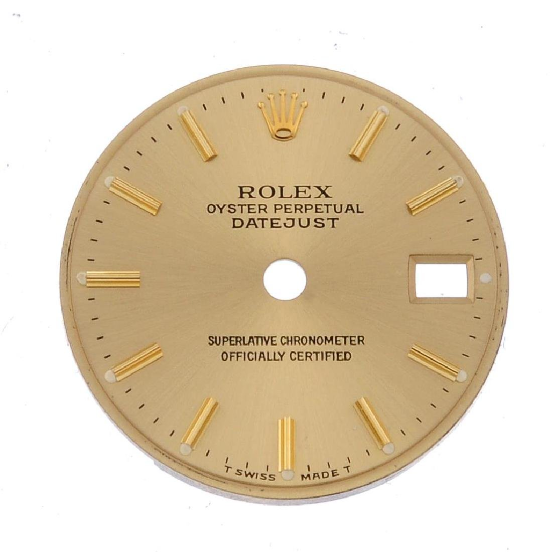 ROLEX - a lady's Oyster Perpetual Datejust dial.