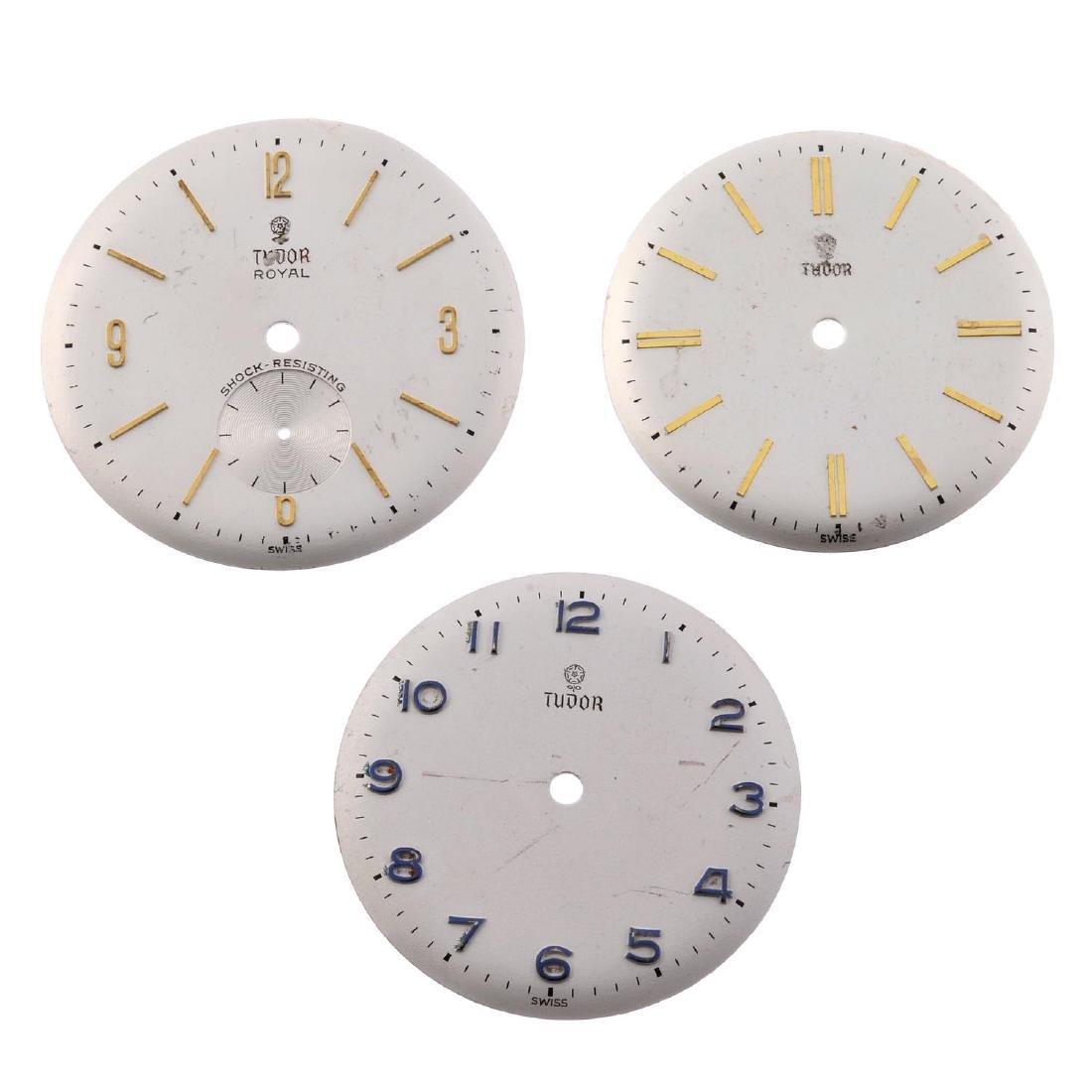 TUDOR - a group of thirteen assorted watch dials. All