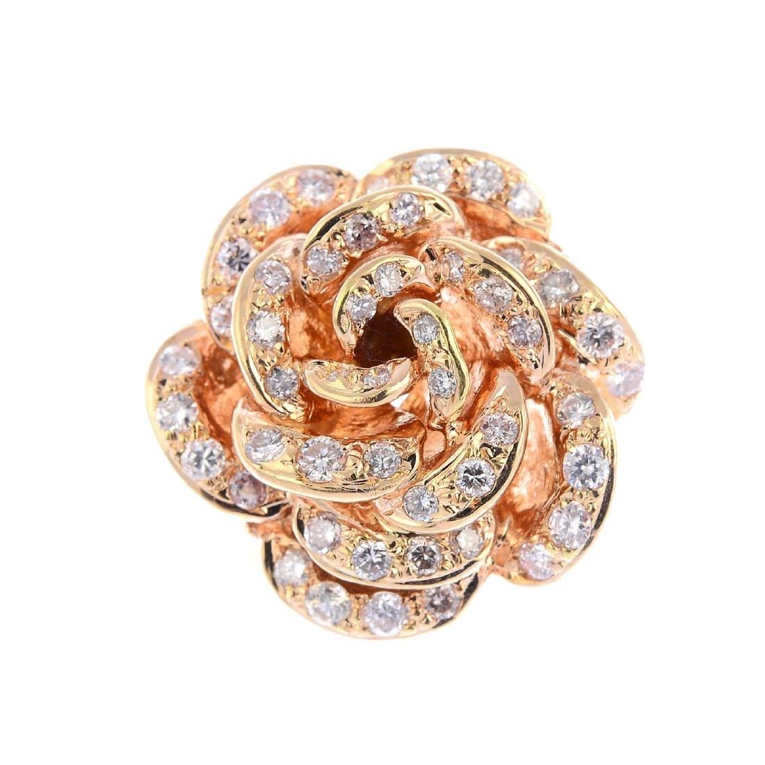 A diamond dress ring. Designed as a brilliant-cut