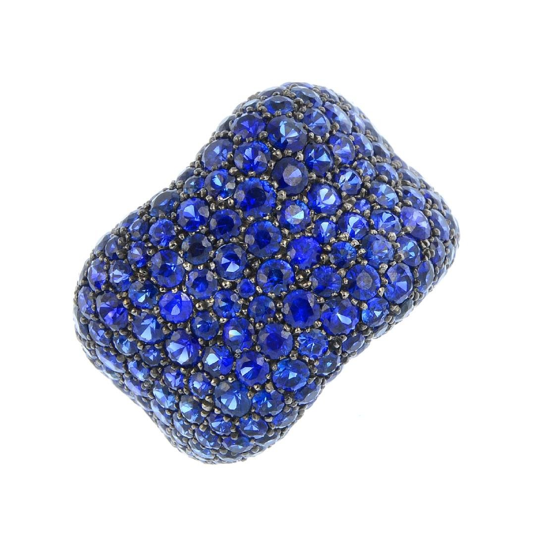 FABERGE - an 18ct gold sapphire 'Emotion' ring.