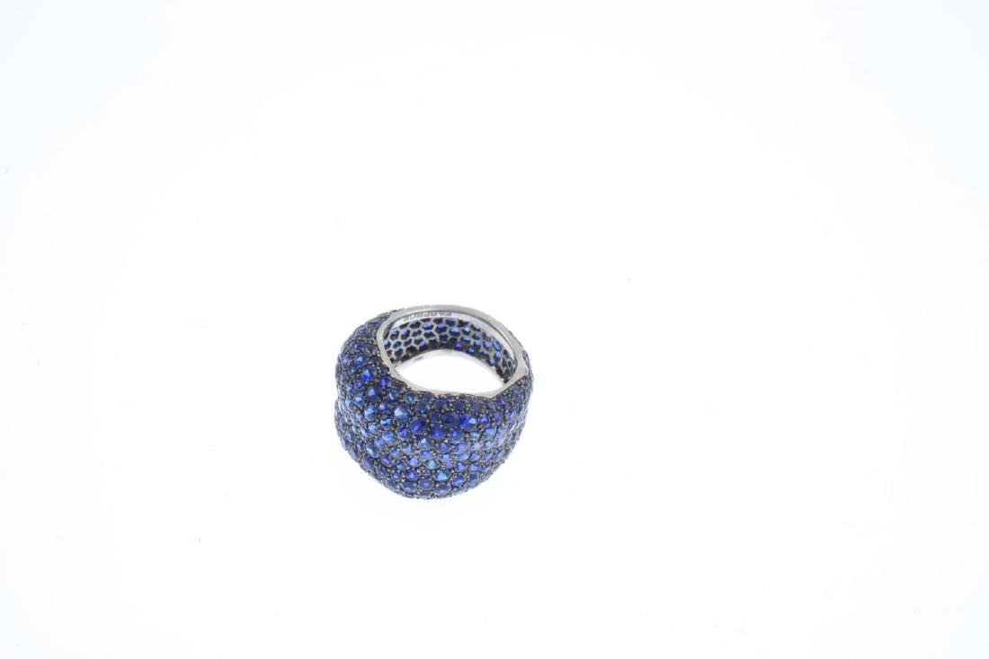 FABERGE - an 18ct gold sapphire 'Emotion' ring. - 2