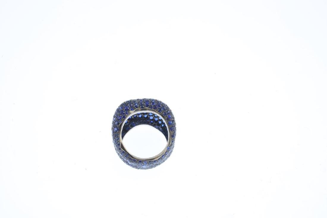 FABERGE - an 18ct gold sapphire 'Emotion' ring. - 4