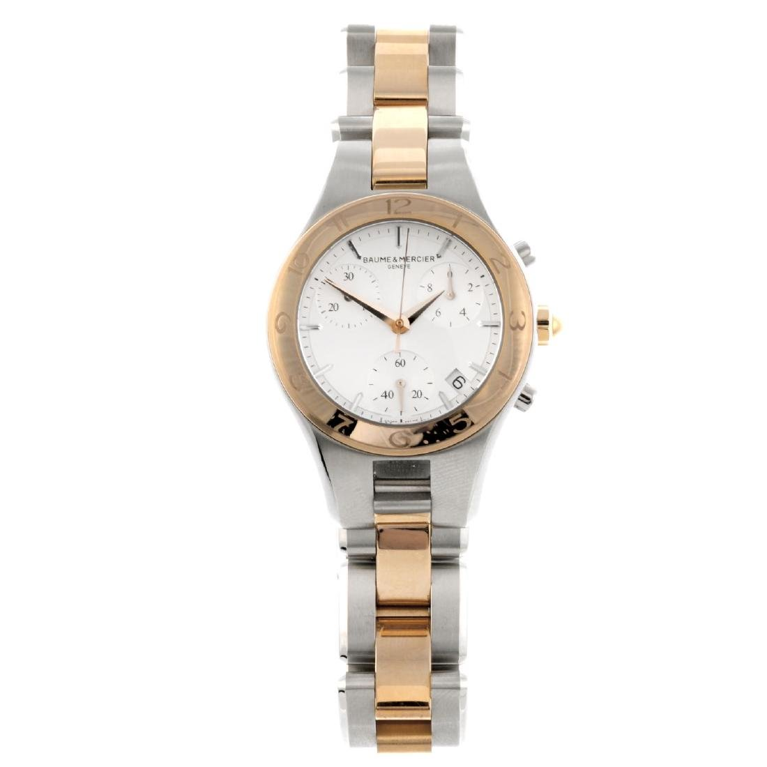 BAUME & MERCIER - a lady's Linea chronograph bracelet
