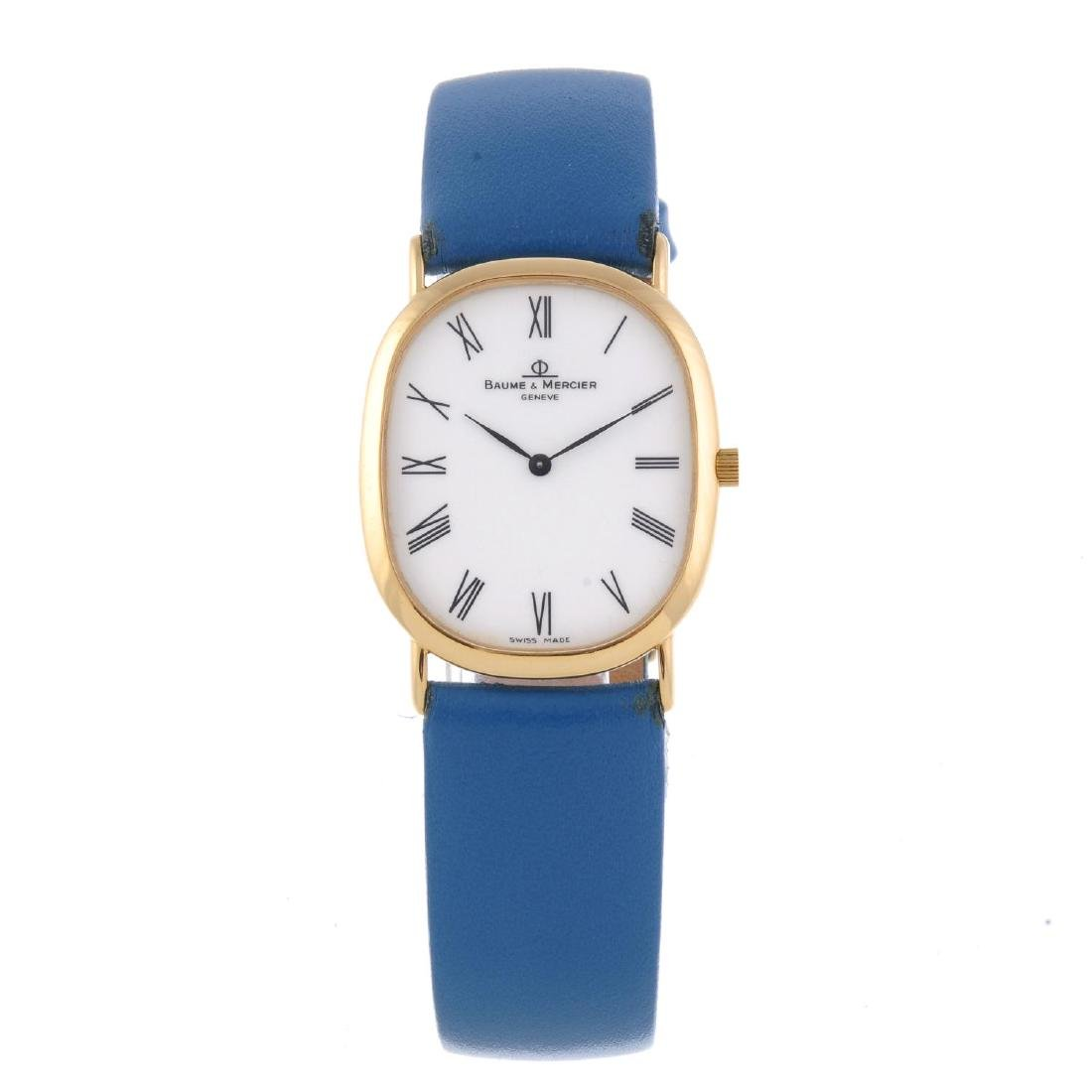 BAUME & MERCIER - a gentleman's wrist watch. 18ct