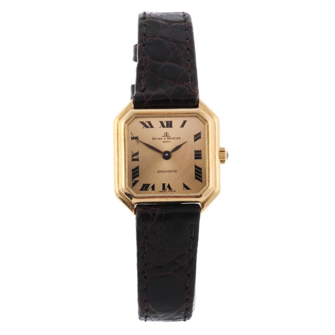 BAUME & MERCIER - a lady's Baumatic wrist watch. 18ct