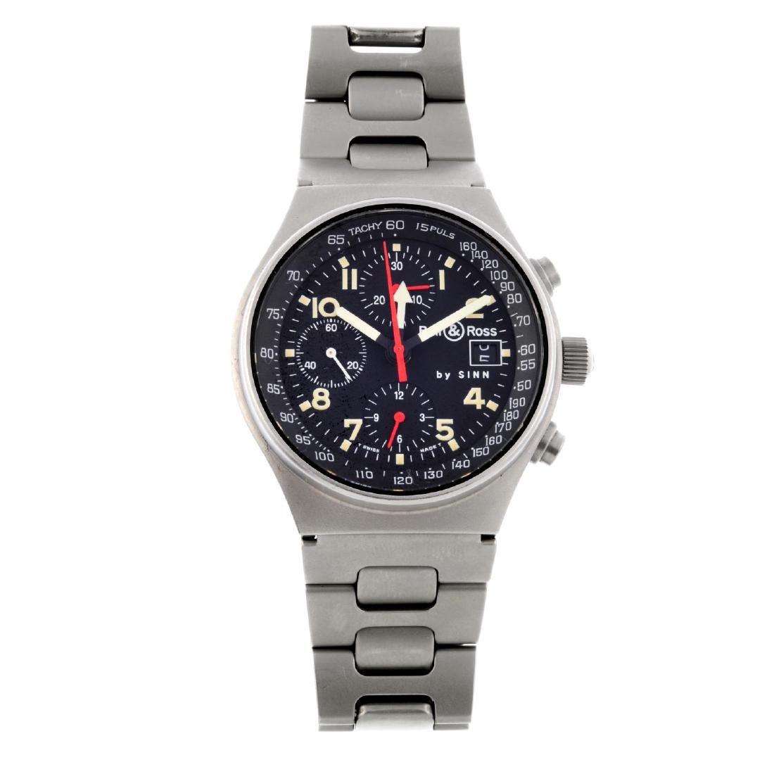 BELL & ROSS - a gentleman's Sinn GMT chronograph