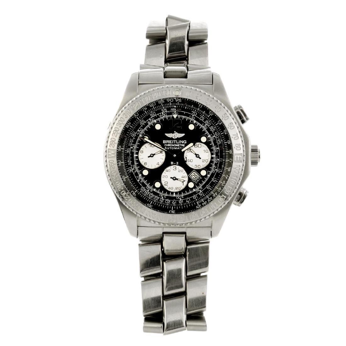 BREITLING - a gentleman's B-2 chronograph bracelet