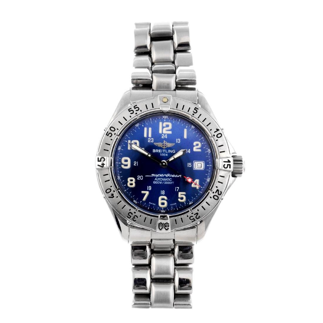 BREITLING - a gentleman's SuperOcean bracelet watch.