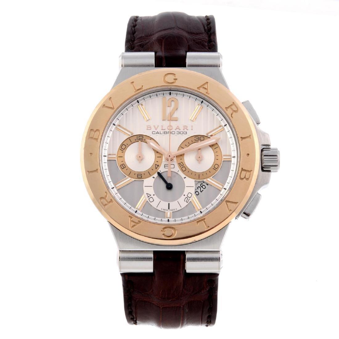 BULGARI - a gentleman's Diagono chronograph wrist
