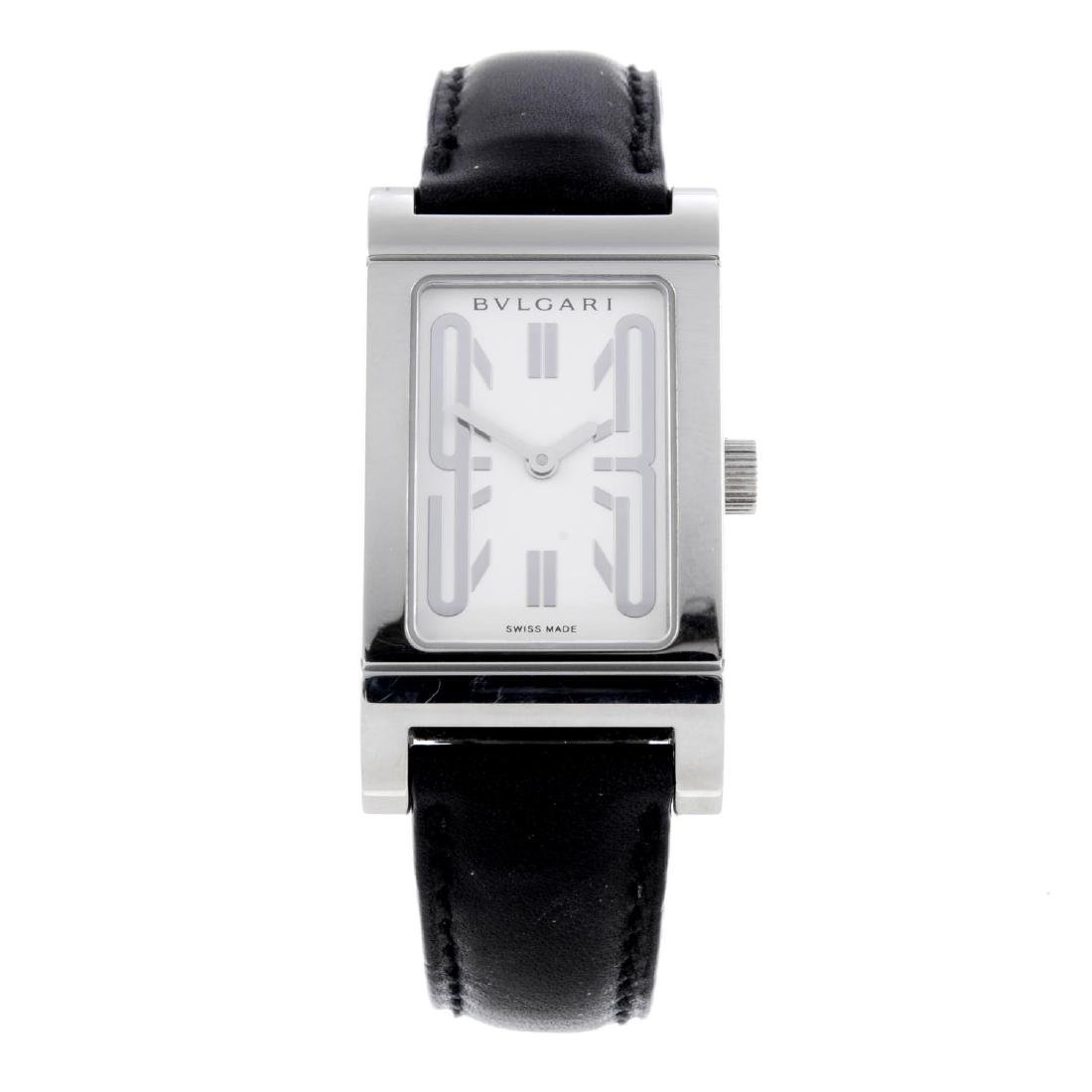 BULGARI - a lady's Rettangolo wrist watch. Stainless