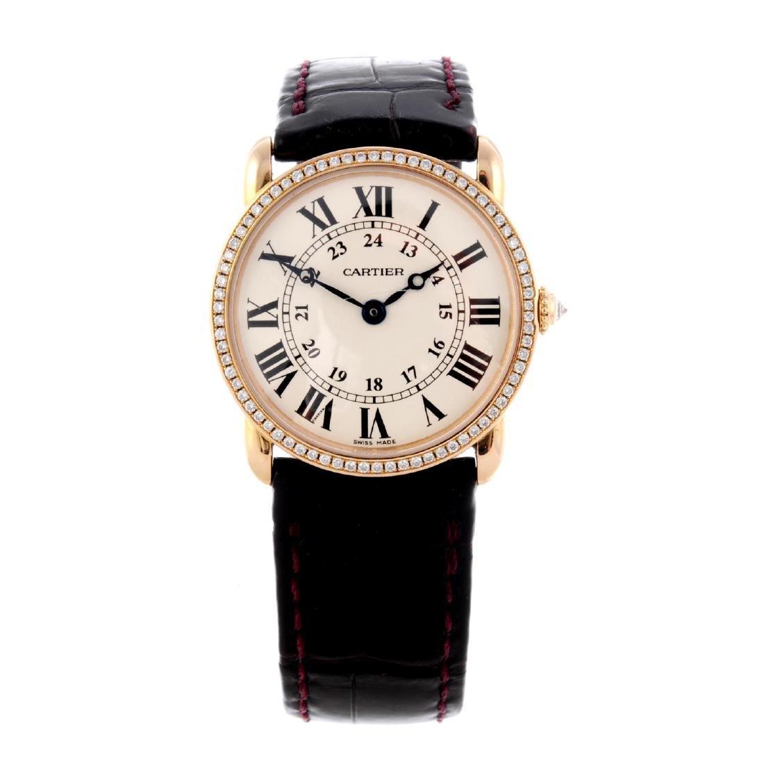 CARTIER - a Ronde Louis Cartier wrist watch. 18ct