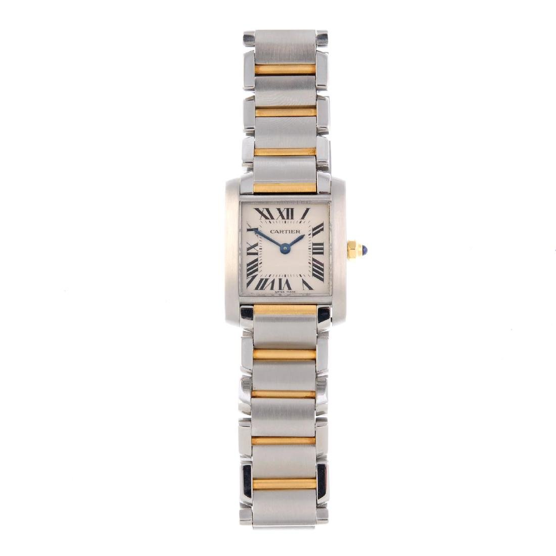 CARTIER - a Tank Francaise bracelet watch. Stainless