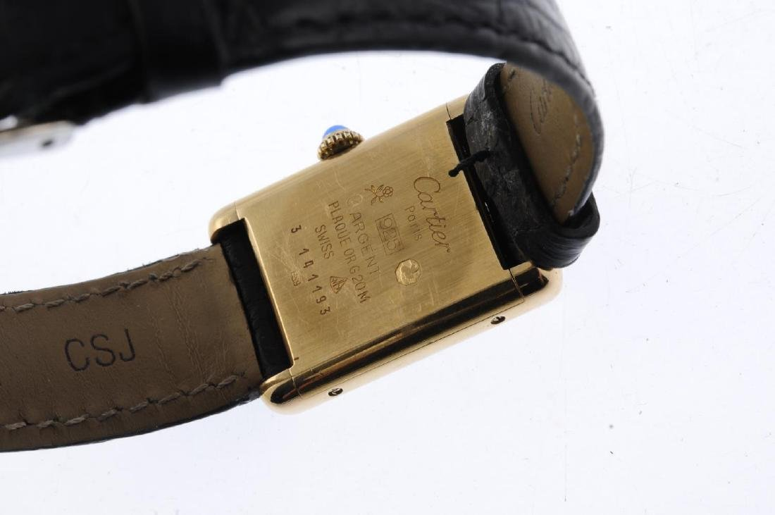 CARTIER - a Must de Cartier wrist watch. Gold plated - 3