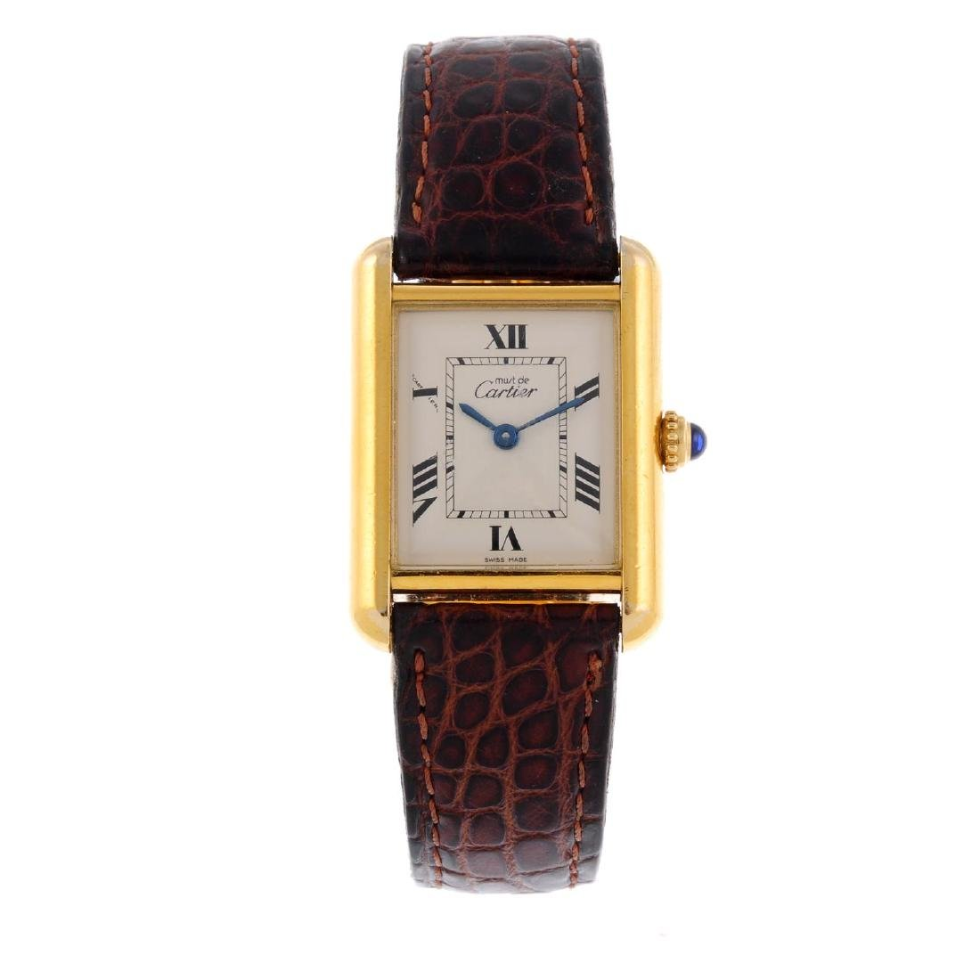 CARTIER - a Must De Cartier Tank wrist watch. Gold
