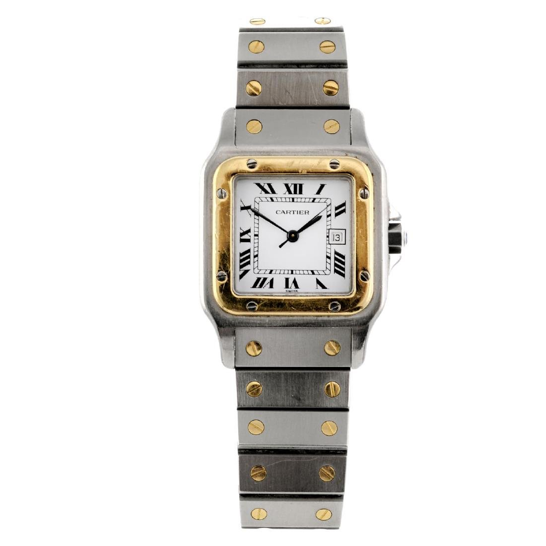 CARTIER - a Santos bracelet watch. Stainless steel case
