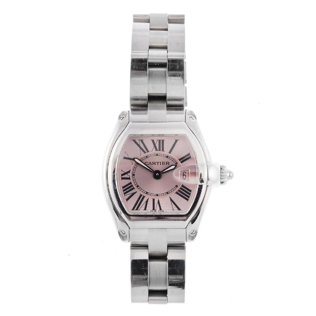CARTIER - a Roadster bracelet watch. Stainless steel