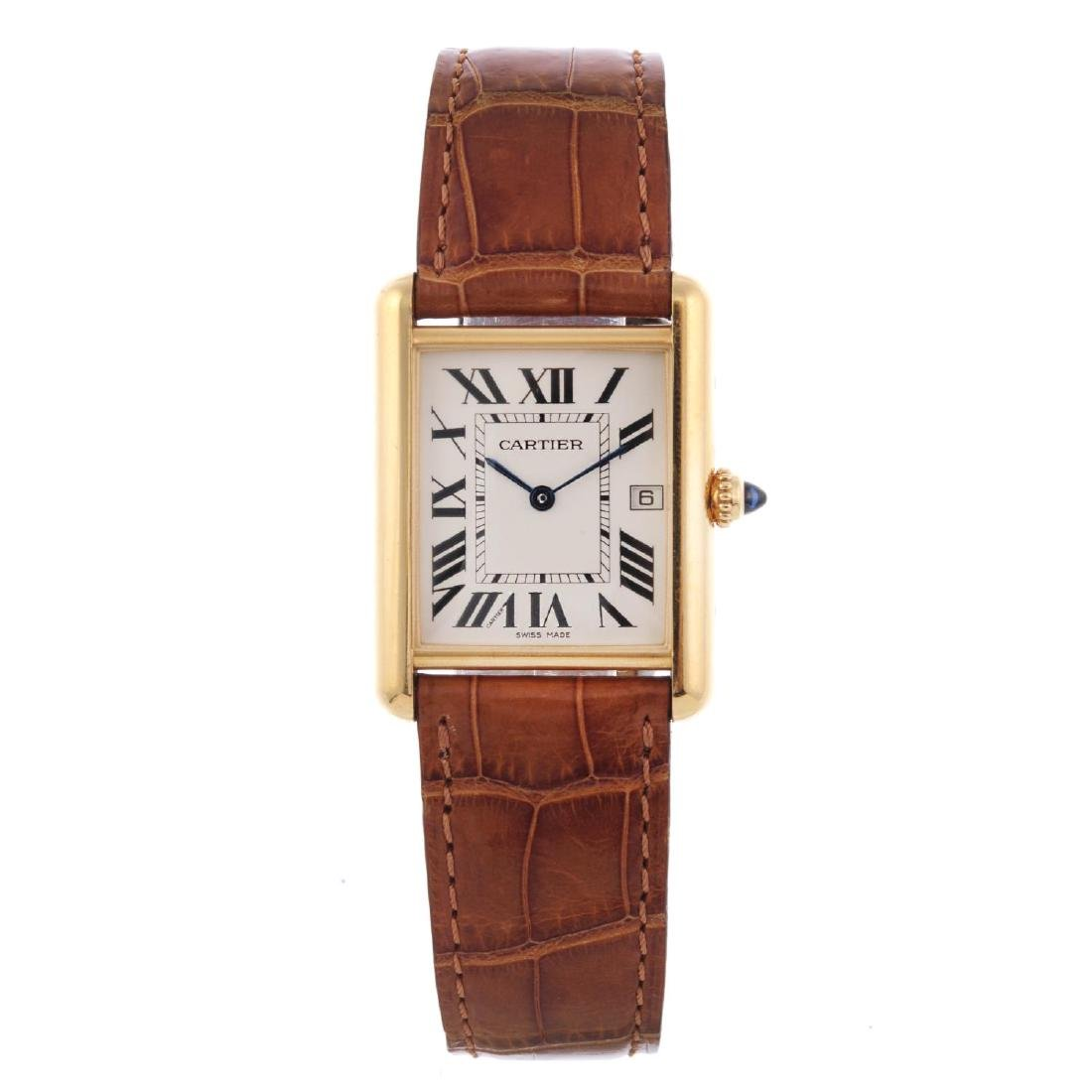 CARTIER - a Tank Louis Cartier wrist watch. 18ct yellow