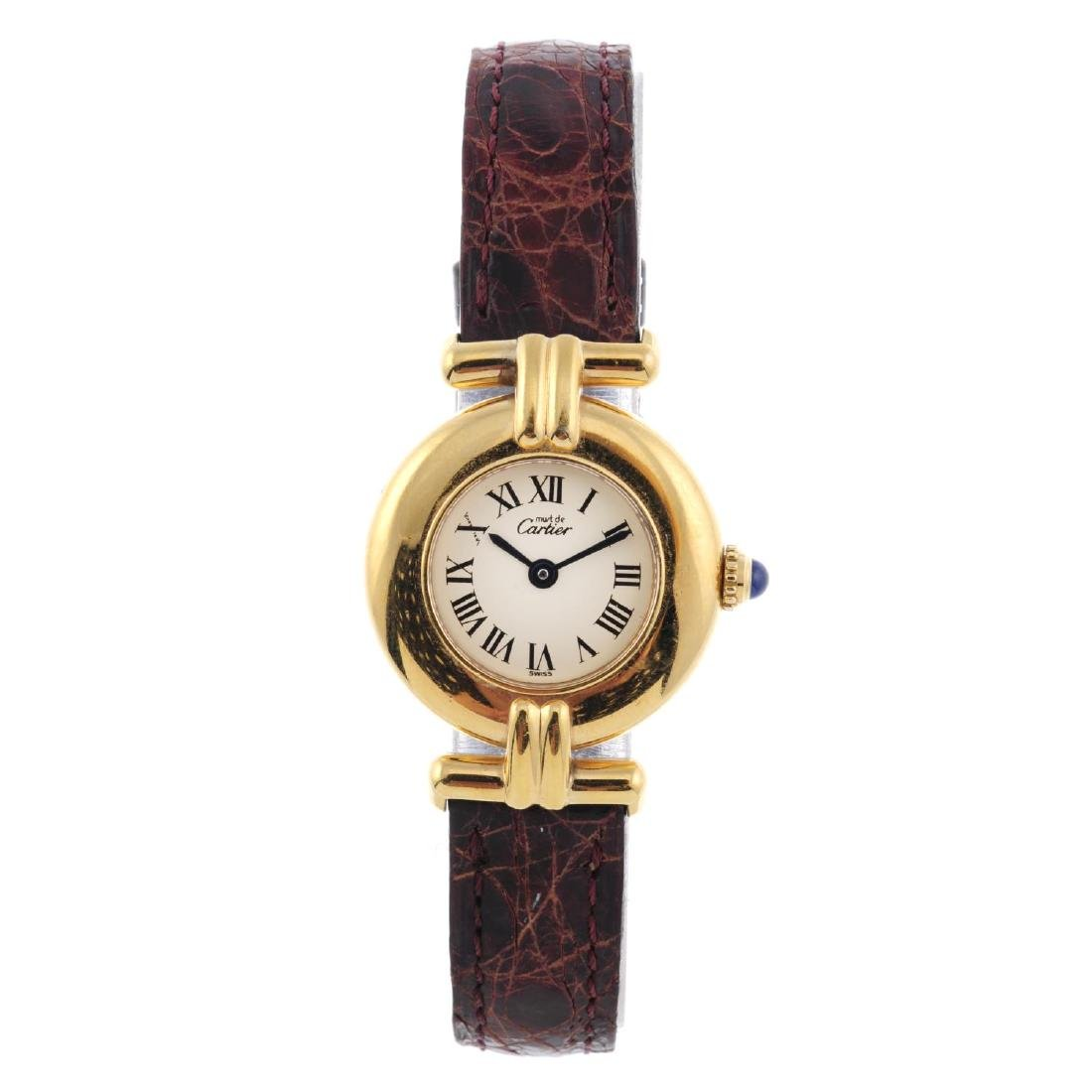 CARTIER - a Must de Cartier Rivoli wrist watch. Gold