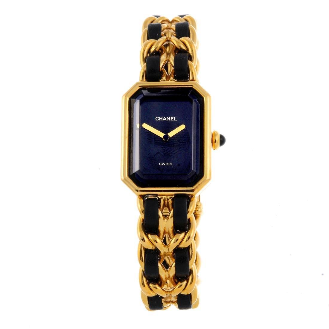 CHANEL - a lady's Premiere bracelet watch. Gold plated