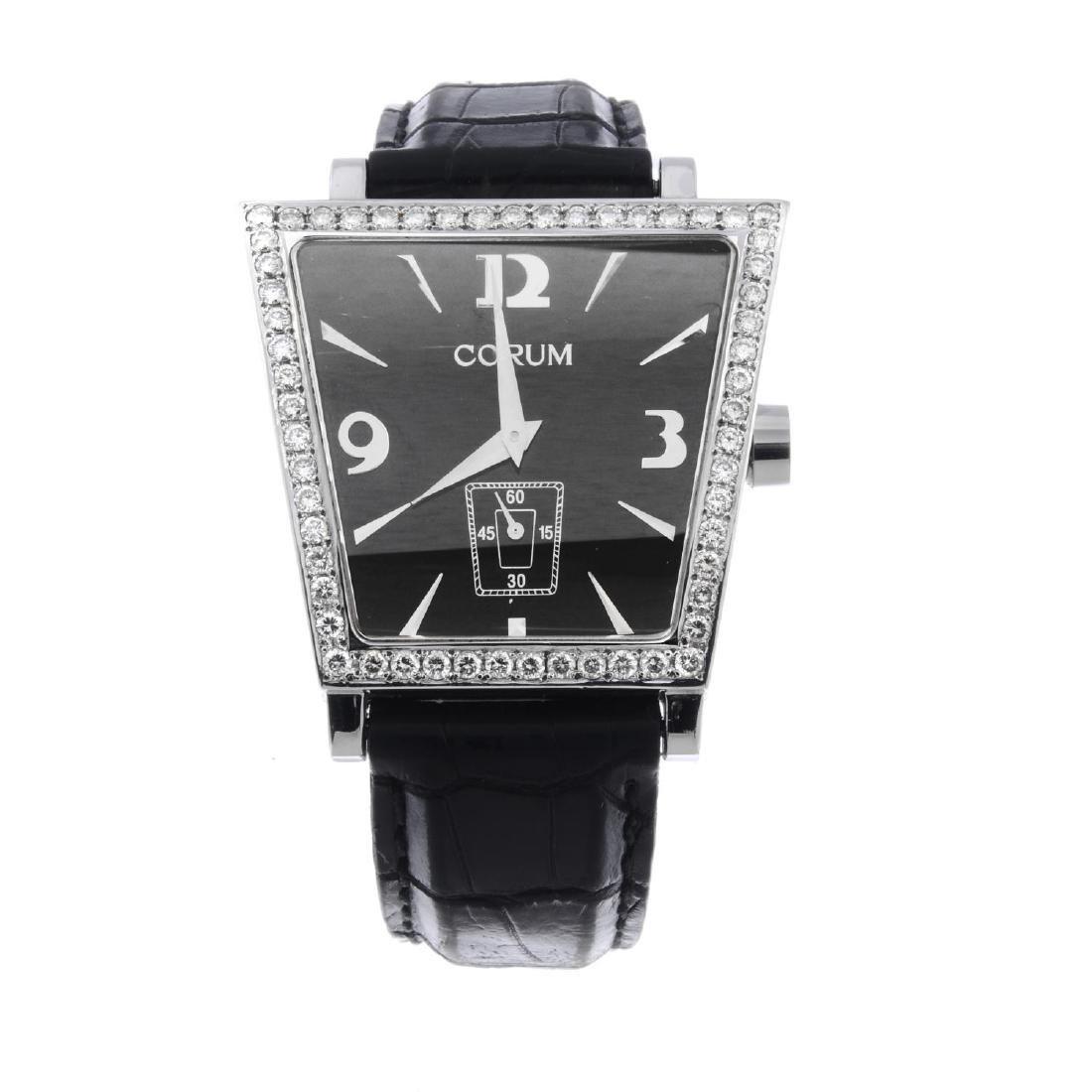 CORUM - a Trapeze wrist watch. Stainless steel diamond