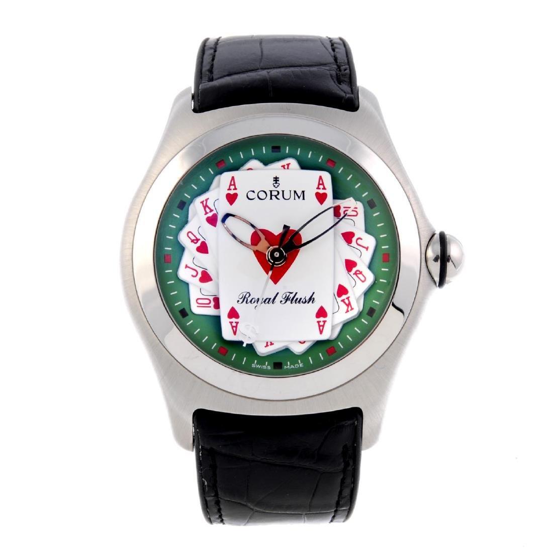 CORUM - a gentleman's Royal Flush wrist watch.