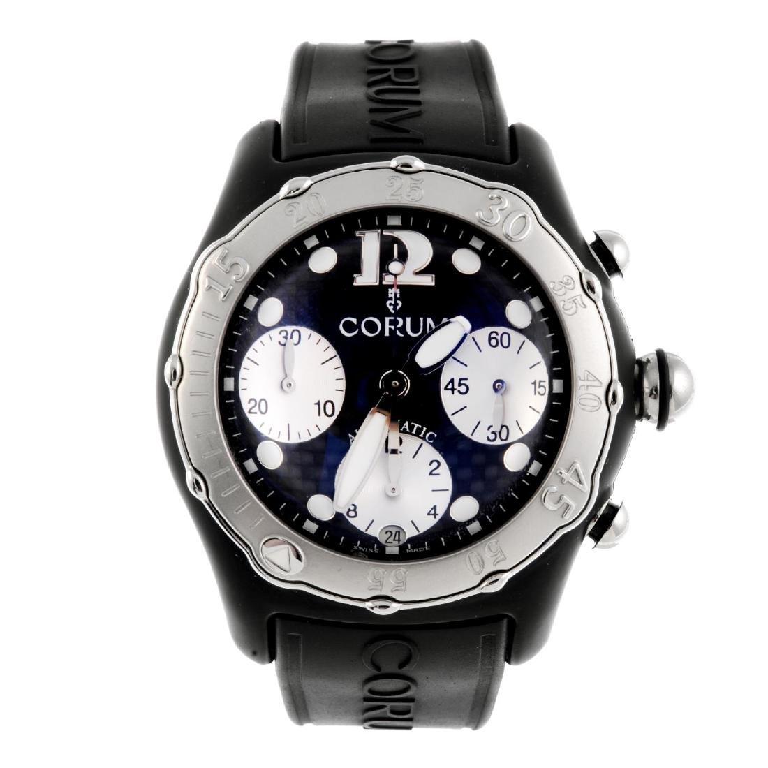 CORUM - a gentleman's Bubble Midnight chronograph wrist