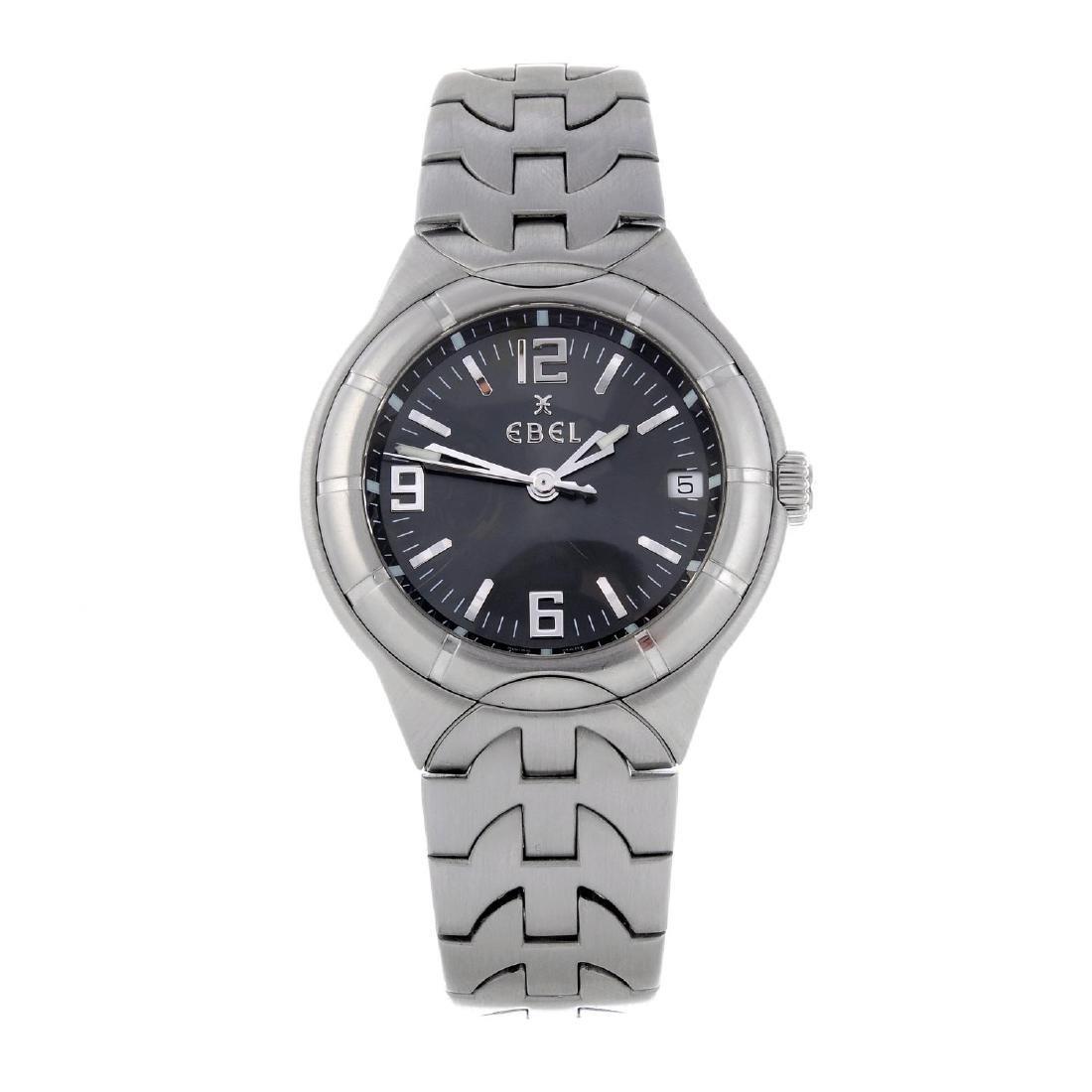EBEL - a gentleman's Type E bracelet watch. Stainless
