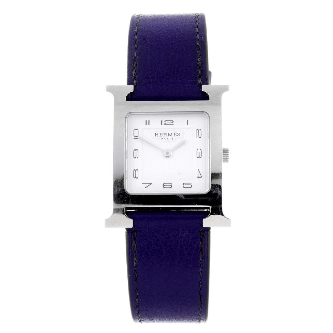 HERMÈS - a Heure H wrist watch. Stainless steel case.